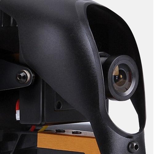 Caméra 700 lignes du drone F210 vue de côté