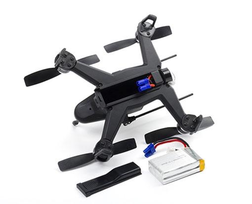 Drone racer Walkera F150 Rodeo RTF noir avec batterie - vue de dos
