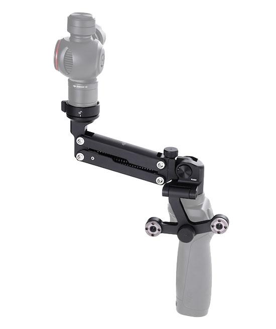 Caméra X3 installée sur le DJI Osmo via le Z-Axis - vue de côté