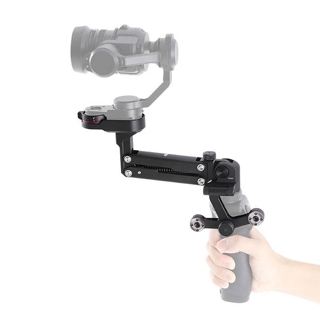 Z-Axis pour DJI Osmo avec caméra X5 montée - vue de côté