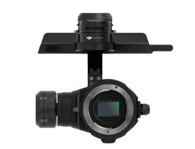 Retrouvez la nacelle caméra ZENMUSE X5R avec son disque dur SSD amovible de 512Go pour enregistrer en 4K RAW.