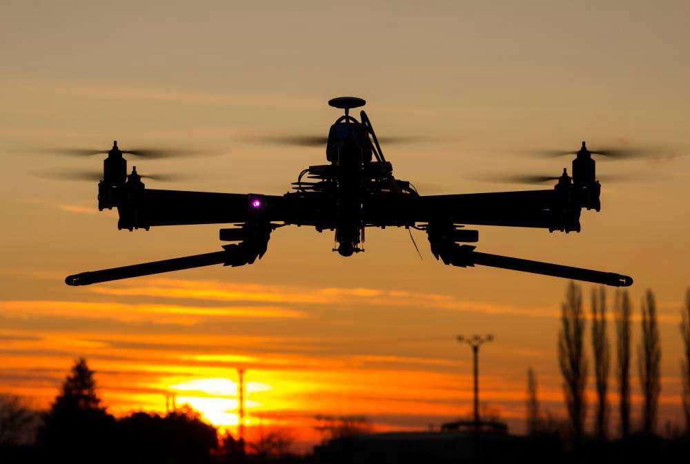 Le vol de nuit avec un drone
