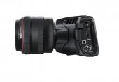 Blackmagic Pocket Cinema Camera 6K vue du côté gauche avec Objectif Canon