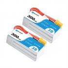 2 Batteries 3S 300mAh 45C - BetaFPV