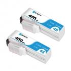 2 Batteries 450mAh 4S 75C BetaFPV (XT30)