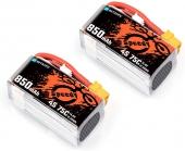2 Batteries 850mAh 4S 75C Lipo - BetaFPV