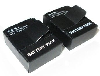 2 x Batteries STS pour GoPro Hero3/3+