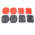 2x Flat Mounts & 2x Curved Mounts with adhesive pads for GoPro Hero 4/3+/3/2/1