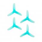 4 Hélices DP 3x3x3 HQProp en PolyCarbonate bleue transparente