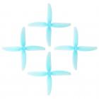 4 Hélices DP 5X4X4V1S HQProp en PolyCarbonate bleue transparente