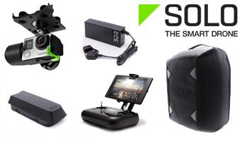 Retrouvez l'ensemble des accessoires compatibles avec le 3DRobotics SOLO