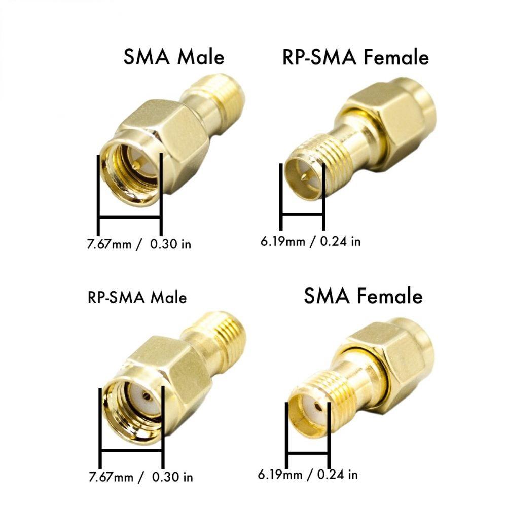 Adaptateur coudé RP-SMA et SMA