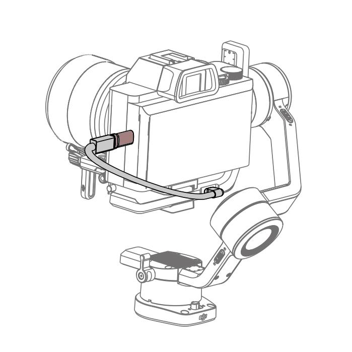 Adaptateur de connexion pour Ronin-SC Type-C vers microUSB - DJI