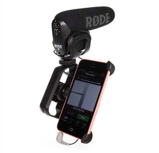 Adaptateur SC4 reliant un smartphone et un micro Rode