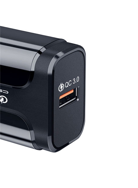 Adaptateur USB secteur compatible Quick Charge 3.0