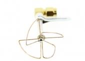 4 lobes antenne SL PinWheel 5-8 GHz coudée RP-SMA