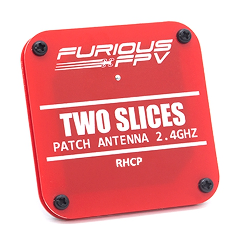 "Antennes Patch 2.4GHz RHCP - ""Two Slices\"" - Furious FPV"