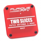 """Antennes Patch 2.4GHz RHCP - \""""Two Slices\"""" - Furious FPV"""