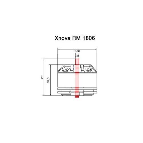 Axe pour moteur Xnova RM 1806 détails techniques