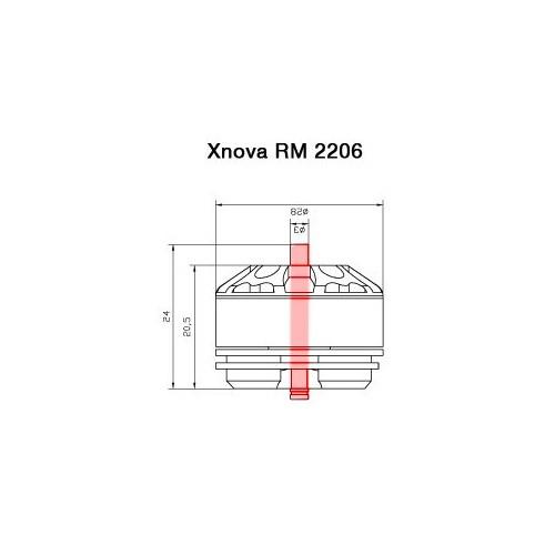 Axe pour moteur Xnova RM 2206 détails techniques