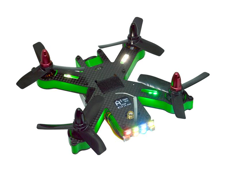 Bande de LED Furious FPV monté sur un drone de course