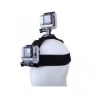 Grâce à ce bandeau, vous pourrez fixer deux GoPro. La fixation du dessus pourra être orienté à 360°.