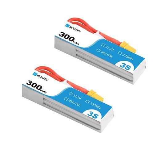 Batterie 300mAh 3S 45C S-Version (x2)