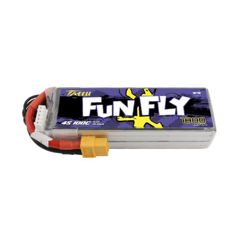 Batterie 4S Funfly 1800mAh 14.8V 100C - Tattu