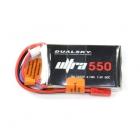 Batterie Dualsky Ultra, lipo 2S 7.4V 550mAh 50C prise jst-bec