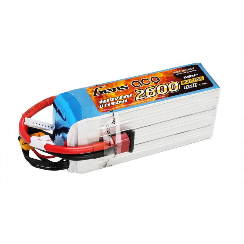 Batterie Gens ace 6s 2600mAh 60C
