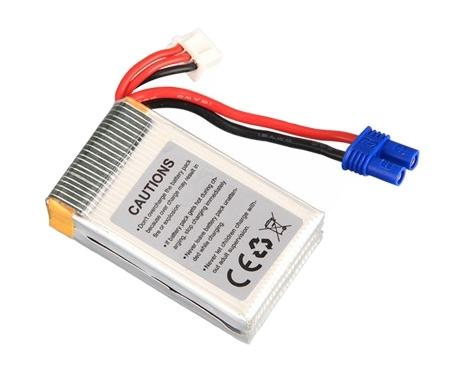 Batterie Li-Po 7.4V 850mAh 30C(2S) vue du dessus