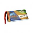 Batterie lipo 1S 630 mAh 75C - EPS