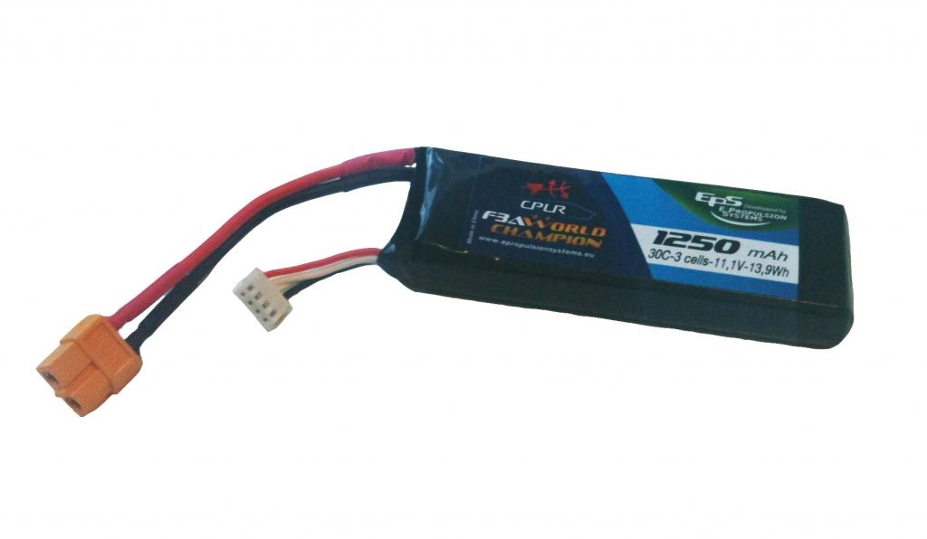 Batterie lipo 3S 1250 mAh 30C (XT60) - EPS
