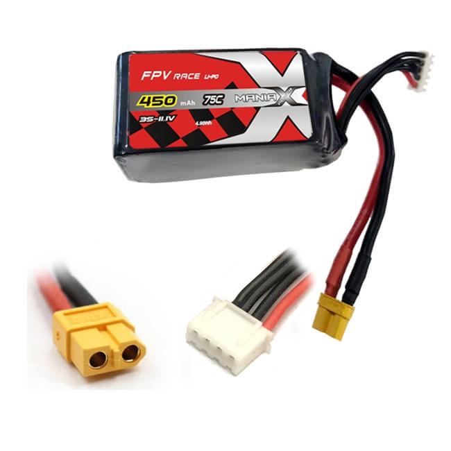 Batterie LiPo 3S 450mAh 75C - XT60 - ManiaX