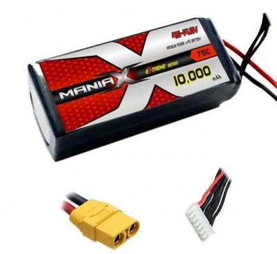 Batterie LiPo 4S 10000mAh 25C - XT60 - ManiaX