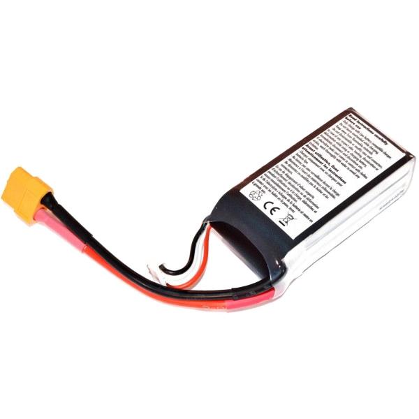 Batterie lipo 4S 1300 mAh 75C (XT60) - EPS - Vue du dessous