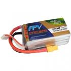 Batterie lipo 4S 1300 mAh 75C (XT60) - EPS - vue du dessus
