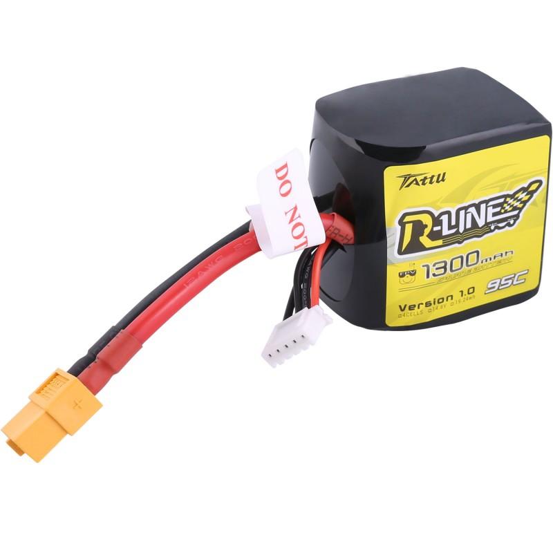 Batterie LiPo 4S 1300 mAh 95C R-Line Square Tattu