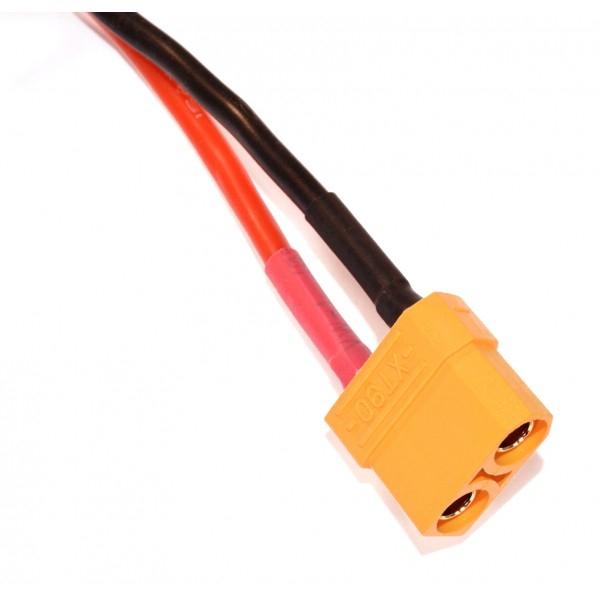 Batterie Lipo 4S 2200 mAh 60C (XT60) - EPS - Vue connecteur XT60