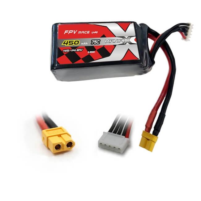 Batterie LiPo 4S 450mAh 75C - XT60 - ManiaX