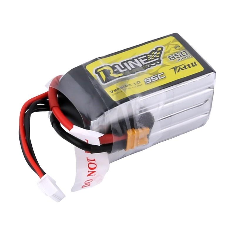 Batterie lipo 4S 850 mAh 95C (XT30) - Tattu