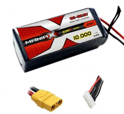 Batterie LiPo 6S 10000mAh 25C - XT60 - ManiaX