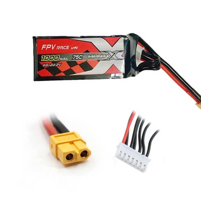 Batterie LiPo 6S 1000mAh 75C - XT60 - ManiaX
