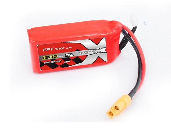 Batterie LiPo 6S 1300mAh 130C - XT60 - ManiaX