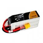 Batterie lipo 6S 1800 mAh 75C (XT60) - Tattu - Vue du dessus