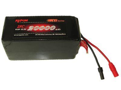 Batterie Lipo 6S 20000 mAh 25C (XT150) - KyPOM