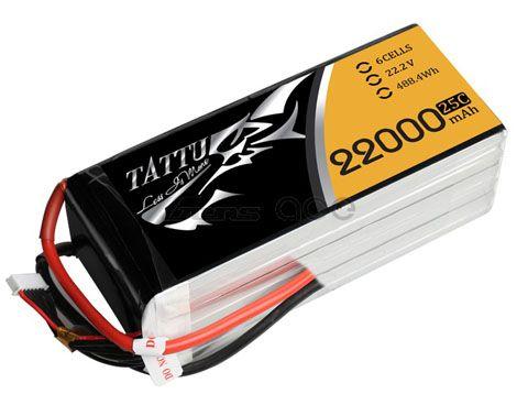 Batterie Lipo 6S 22000 mAh 25C (EC5) - TATTU