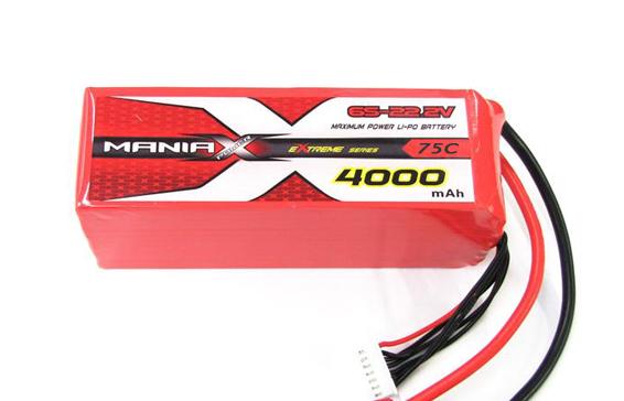 Batterie LiPo 6S 4000mAh 75C - XT60 - ManiaX