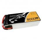 Batterie lipo 6S 8000 mAh 25C (EC5) - Tattu
