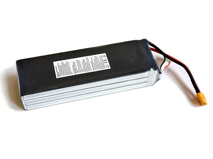 Batterie Lipo 6S 8300 mAh 15C (XT60) - EPS - Vue du dessous